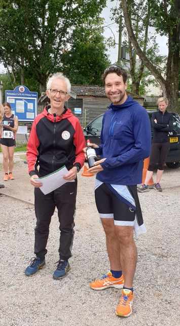 David Hatfield-Shaw was the first male back to do all three legs in a time of 1:39:46