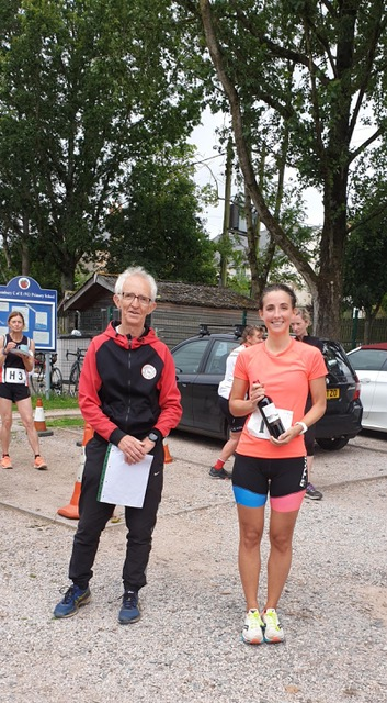 Hannah Brown the first female back having done all 3 legs in a time of 1:47:40