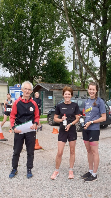 Judy Davey and Jo Buxton won the ladies team in a time of 1:47:59